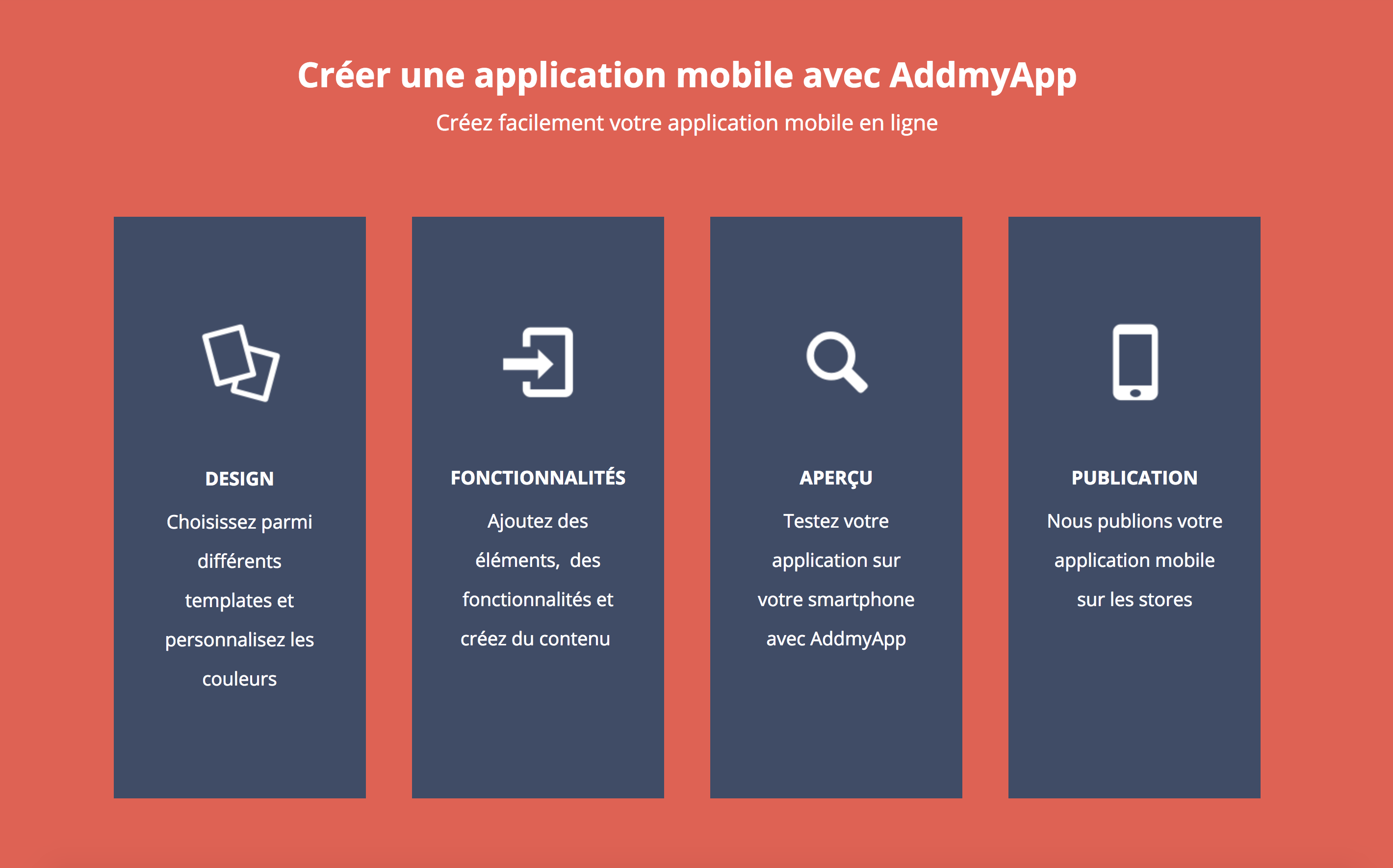creation application mobile addmyapp
