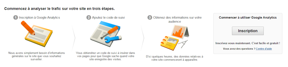 Installation analytics en 3 étapes