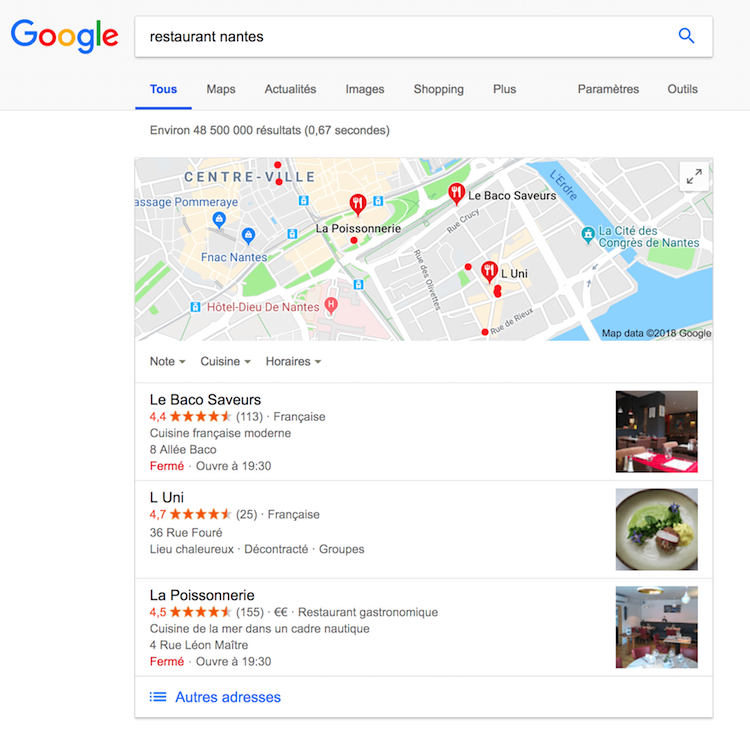 google my business et le référencement local