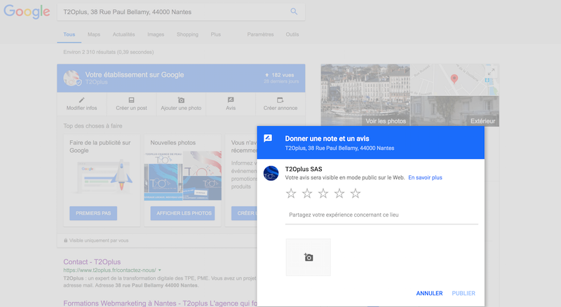 creer un lien direct vers avis clients google