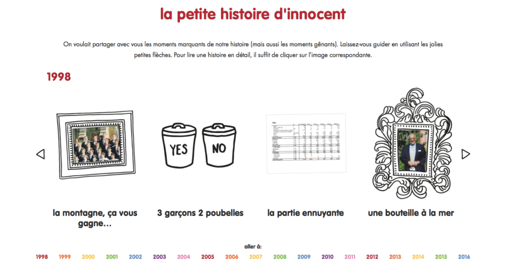 le storytelling par innocent une reference